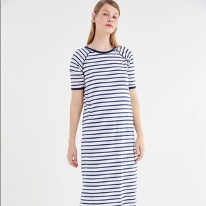 Auguste the Label Sails Striped midi t-shirt dress